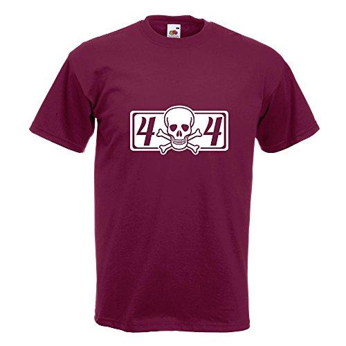 KIWISTAR - 4 x 4 Allrad T-Shirt in 15 verschiedenen Farben - Herren Funshirt bedruckt Design Sprüche Spruch Motive Oberteil Baumwolle Print Größe S M L XL XXL Burgund