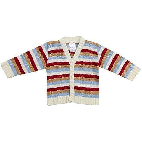 Boys para bebé rayas rojo y azul Rebeca de punto para suave Jersey regalo 6–24meses