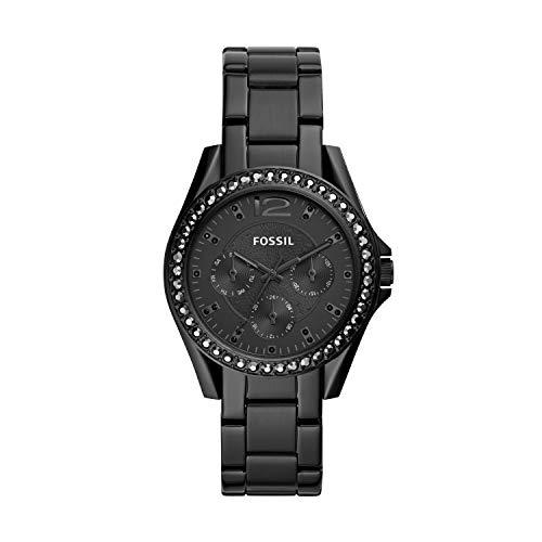 Fossil Damen Analog Quarz Uhr mit Edelstahl Armband ES4519