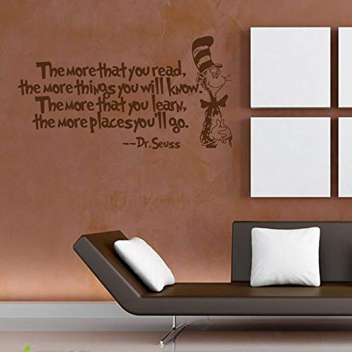 Dr.Seuss Englische Minimalistische Wandaufkleber Wohnzimmer Schlafzimmer Hintergrund Dekorative Aufkleber Wasserdicht Abnehmbar (Seuss Dr Hintergrund)