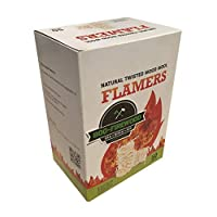 800-Firewood wooden wool flamers 50 pieces box