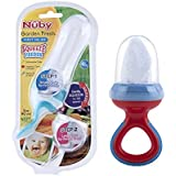 Nuby Garden Fresh Silicone Squeeze Feeder With Spoon Squeeze Feeder With Two Spoon With Nibbler Mesh Feeder With Hygienic Cover (Both Colour May Vary)