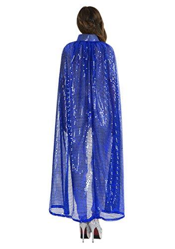 JINTN Frauen Halloween Pailletten Umhang Keine Cape, Lange Cosplay Kostüm Mäntel Erwachsene Kostüm Robe Masquerade für Weihnachtsfeier Kostüm Ball, 140 cm (Boxen Kostüm Robe)
