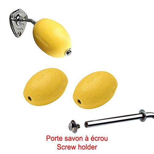 Lot porte-savon + 3 savons jaunes rotatifs écoliers Provendi