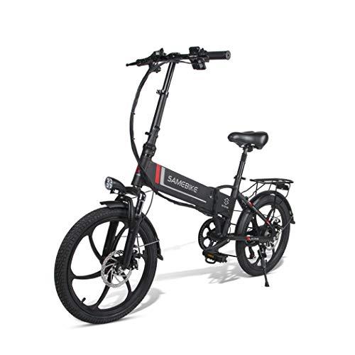 SoTeer E-Mountainbike Damen und Herren E-Bike 20 Zoll Elektrofahrrad, E-Fahrrad mit Abnehmbarer 350W 48V 8Ah Akku, 7 Gang Shimano Gangschaltung