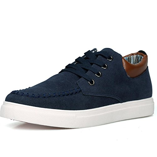 Jeansian Homme Casual Sneakers Basses Espadrilles Chaussures Men Fashion Shoes SHB003 blue