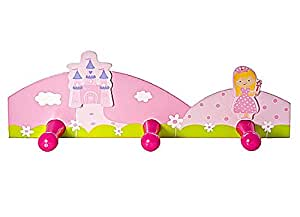 baby oder kinder rosa prinzessinnen wandhaken. Black Bedroom Furniture Sets. Home Design Ideas