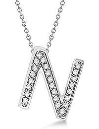 e7034686a159 A a Z Letras iniciales Diamantes Colgantes Collares en plata esterlina  sólida 925 Joyas personalizadas minimalistas