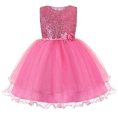 Beikoard Weihnachten Kleidung,Baby Mädchen Hochzeit Blumen Pailletten Prinzessin Party Abendkleid Tutu Brautkleid Brautjungfer Pageant Kleid ()