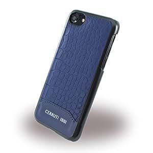 Cerruti 1881Leder Krokoprint Hard Case für iPhone 8/7–Blau