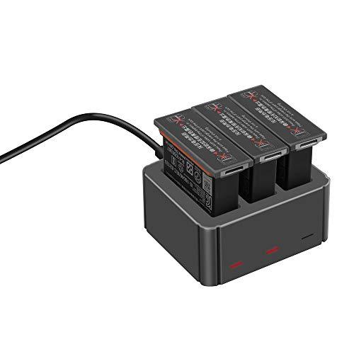 Penivo Osmo Aktion Ladegerät Batterie Hub,3 in 1 Intelligent Akku Ladegerät für DJI Osmo Action Sports Kamera Zubehör Sport Akku-ladegerät