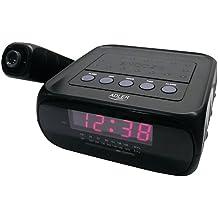 Adler AD 1120 - Reloj despertador con proyector, color negro