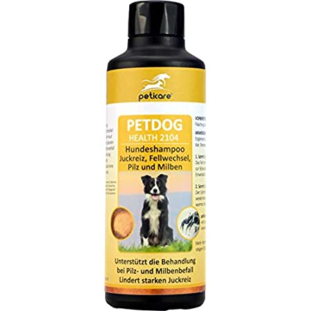 Peticare Hunde Pflege-Shampoo bei Juckreiz Milben Pilz Floh – Spezial Hunde-Shampoo bei unangenehmem Fell-Geruch, pflegt…