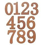 Fenteer Numéro en Bois Maison Boîte aux Lettres 3D Chiffre - Marron