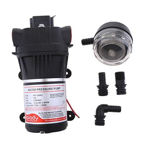 IPOTCH 1 Set Schwarz Wasserdruckpumpe Automatische Druckwasserpumpe Wasserpumpe 12v 10.5lpm