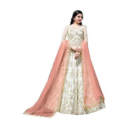 New Indische muslimische Braut pakistanische Bollywood Anarkali Salwar Kameez bereit, Designer Boden Touch Net schwere Stickerei 7942 zu tragen Super Net Saree