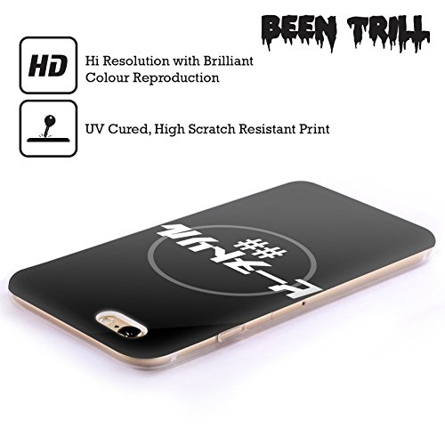 Official Been Trill Logo Drip 1 Black And White Soft Gel Case for Apple iPhone X Japanese Circle