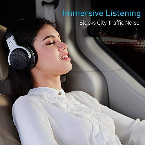Mighty Rock Auricolare Noise Cancelling Cuffie Bluetooth Wireless Senza Fili Auricolari Over-Ear Stereo con Microfono, Hi-Fi Deep Bass, Tempo di Riproduzione di 30 ore.