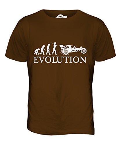 CandyMix Autograss Evolution Des Menschen Herren T Shirt Braun