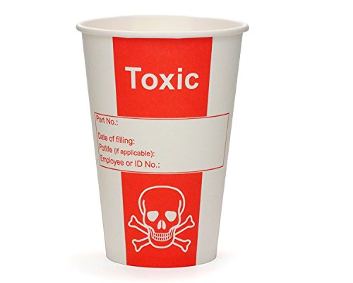 50x Pappbecher, Giftbecher Toxic, Papierbecher, Becher für Labore oder Party mit 500ml Füllvolumen und Gift Optik (Halloween-partys Für Alkoholische Getränke)