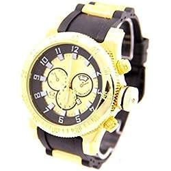 Big Black Silicone Strap Men's Watch 2379