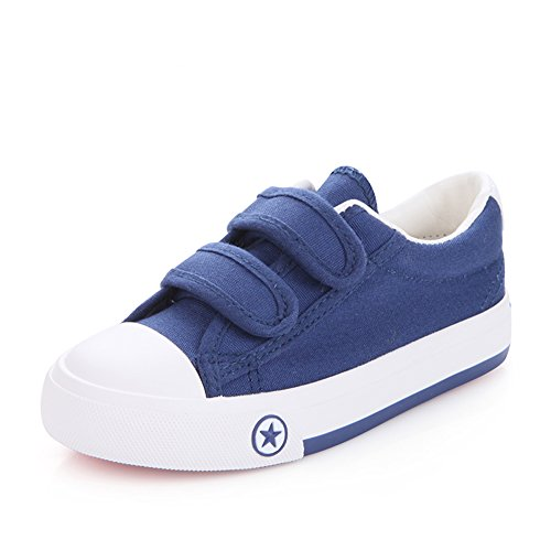 O&N Kids Boys Girls Canvas Pumps Running Shoes Velcro Trainers Espadrilles