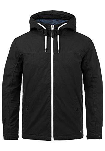 JACK & JONES Originals Jaboah Herren Übergangsjacke Herrenjacke Jacke gefüttert mit Kapuze aus 100% Baumwolle, Größe:XL, Farbe:Black