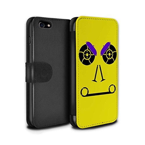 Stuff4 Coque/Etui/Housse Cuir PU Case/Cover pour Apple iPhone 8 / Freins/Jaune Design / Visages Pièce Voiture Collection Freins/Jaune