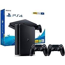 PS4 Slim 1Tb con 2 mandos Consola Playstation 4 + 2 Mandos Dualshock 4 V2