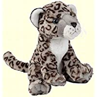 Ravensden Soft Plush Snow Leopard Sitting 25cm