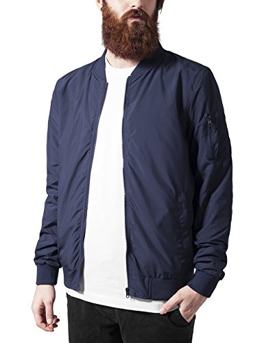 Urban Classics TB1258  Light Bomber Bomberjacke, Blau (navy 155), Gr. Medium
