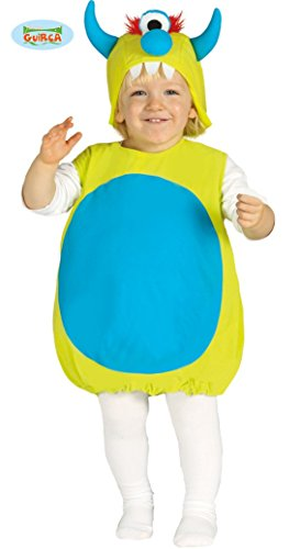 Monster Blaue Kostüm Kleine - kleines Baby Monster - Kostüm für Kinder Gr. 86-98, Größe:86/92