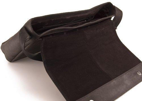 Visconti Hunter Cuir A4 Sac affaires Messenger ordinateur portable # 18516 Noir