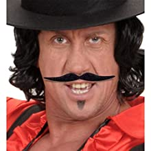 Widmann 0830J - Moustache Stickers Model Dalì, One Size, Black