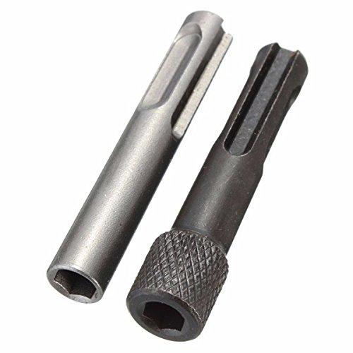KUNSE 2Pcs SDS Auf 1/4 Inch Sechskantschaft Drill Bit Adapter Magnetische Socket Treiber Konvertierungstool (Socket Bit Treiber)