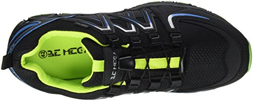 Supremo Herren 3710202 Sneakers Blau (Black-Royal-Lime)