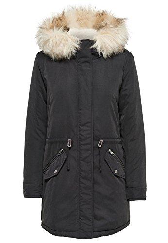 ONLY Damen onlLUCCA Long Parka OTW Jacke, Schwarz (Black), 40 (Herstellergröße: L)