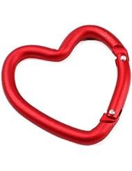 JUNQL& mosquetón en forma de corazón (rojo)