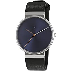 Jacob Jensen Unisex-Adult Quartz Watch, Analogue Classic Display and Leather Strap JJ841