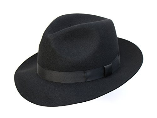 Chapeau Mou Hommes Superb qualité. 100% Laine. Parfait pour Races. de Luxe Bordée. Confortable intérieur Sweatband. Unisexe. Noir,Marron ou Marine Tai