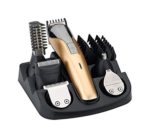 les hommes de coiffure costume électrique rechargeable sans fil la tête - bêche parage rechargeables trousse barbe tondeuse tondeuse coiffeur lame en acier inoxydable