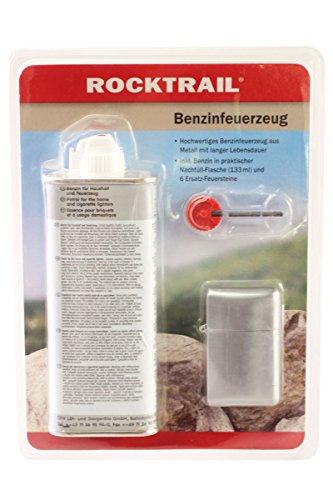 WB Rocktrail® Benzinfeuerzeug Set Nachfüll Benzin Ersatz Feuerstein