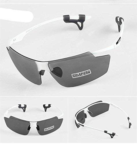 LDD-inbike hombres y mujeres al aire libre gafas ultra-ligero montar gafas (polarizado + lente de entorno + material de PC) , bright white