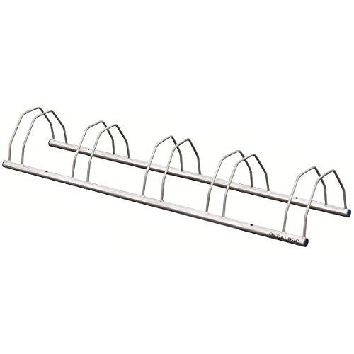 PedalPro Rastrelliera portabici zincata a 5 posti, da pavimento/parete