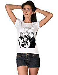 #5 Seconds Of Summer White Girls T-shirt