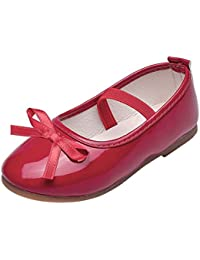 b9f1ccbf4b2d4 Topgrowth Scarpe da Bambina Pelle Eleganti Ballerina Ragazze Casuale Scarpe  da Principessa Danza Sneaker