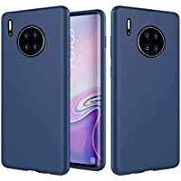 Qsdd Reemplazo para Huawei Mate 30 Pro Funda+1*(Protector de Pantalla) Ultra Thin Anti Scratch Carcasa de Telefono Anti-Huella Digital Anticaída a Prueba de Golpes Caso-Azul