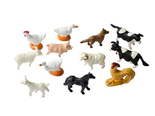 Miniblings 12x Bauernhoftiere Tierfiguren Haustiere Tiere Farmtiere Bauernhof -
