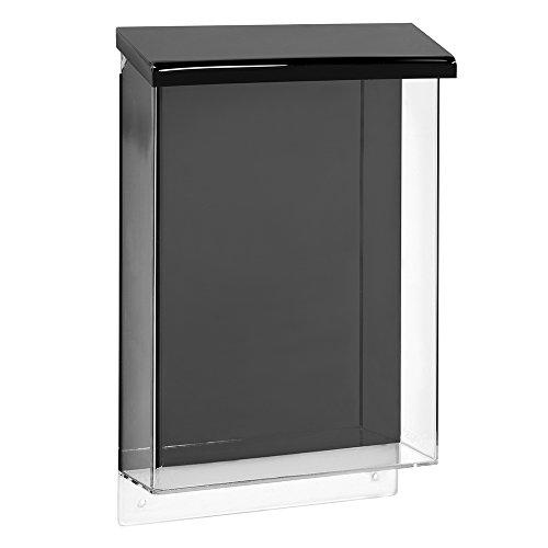 DIN A4 Prospektbox/Prospekthalter / Flyerhalter im Hochformat, wetterfest, für Außen, mit Deckel, aus glasklarem Acrylglas - Zeigis®