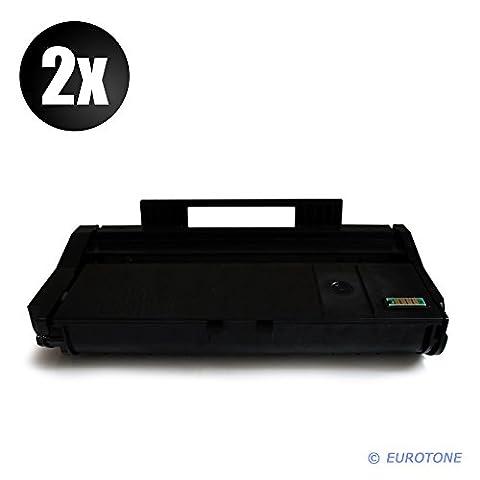 2x Eurotone Toner Cartouche pour Ricoh SP 112 SU SUe SF SFe e remplace 407166 TYPESP100LE